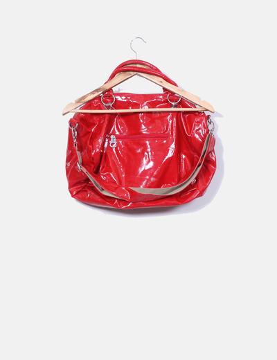 Bolso rojo acharolado