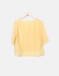 Camiseta gasa amarilla Mango