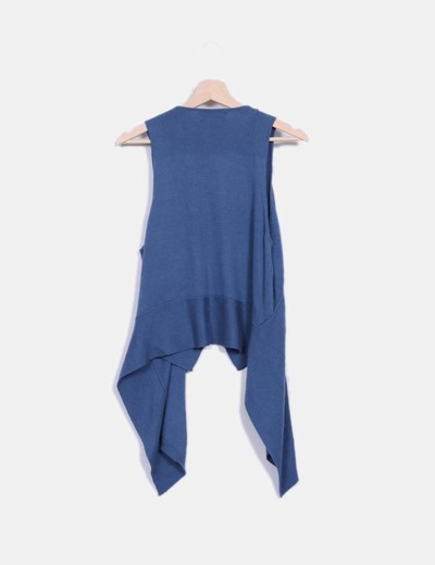 Chaleco tricot azul
