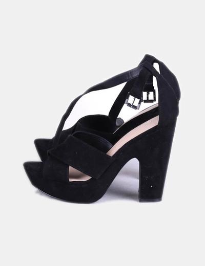 Sandales plate noires -forme Lefties