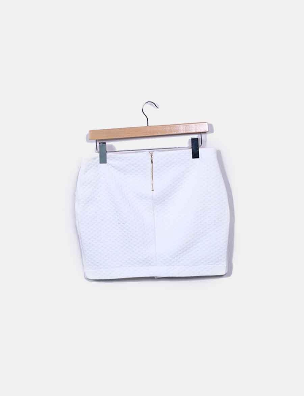 b2e8515bb1 texturizada online Faldas baratas Bershka Minifalda blanca fUzqwwBP ...