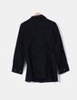 Abrigo negro doble botonadura Tanna