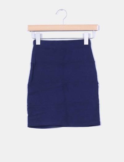 Mini falda ajustada azul marino Pull & Bear