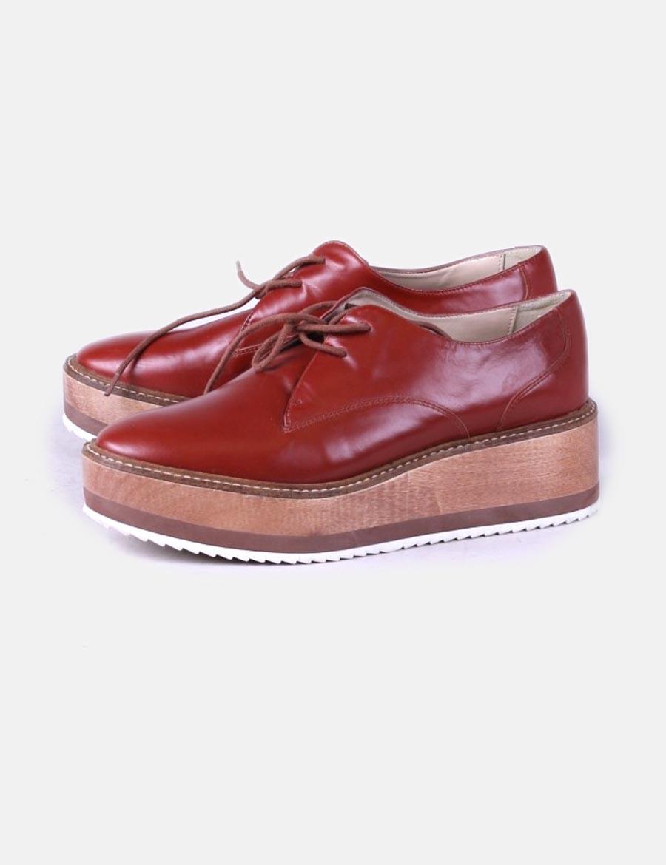 473e285d0 Con Bluche Plataforma Zara De Granate D17fnqqw Cuero Mujer Zapatos  6ZYz5qnfwf