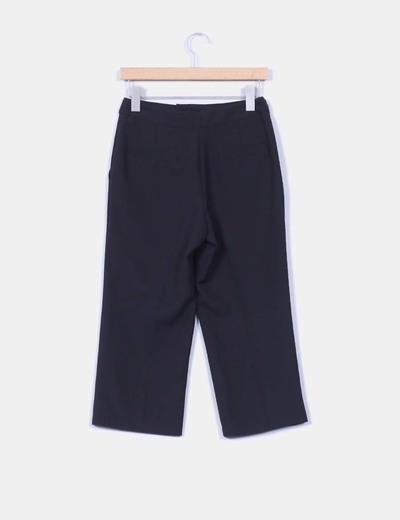 Pantalon culotte negro