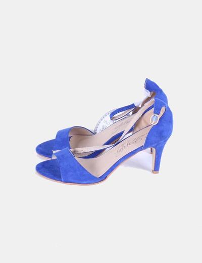 abb952af8 Sandalia azul klein tacón bajo