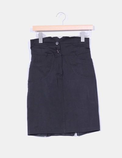 Falda negra de tiro alto  NoName