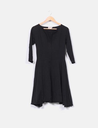 Vestido de algodón negro