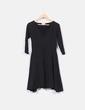 Vestido de algodón negro Yoel