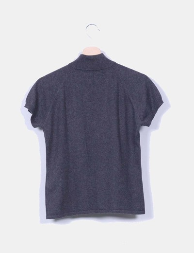 Top tricot gris marengo