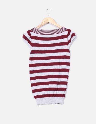 Top tricot de rayas