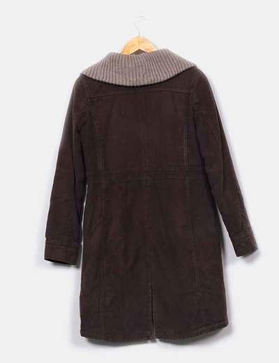 Abrigo largo marron