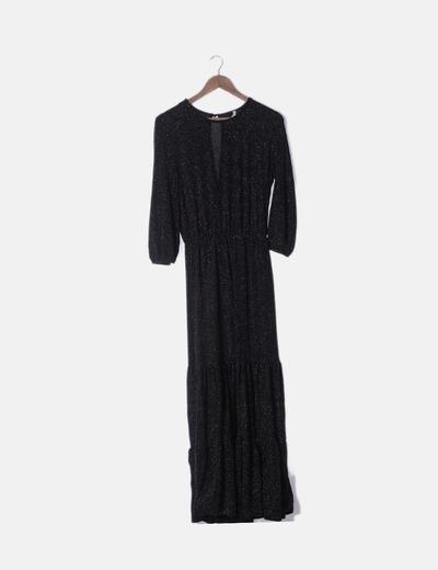 Maxi vestido negro glitter