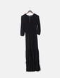 Maxi vestido negro glitter Lumina