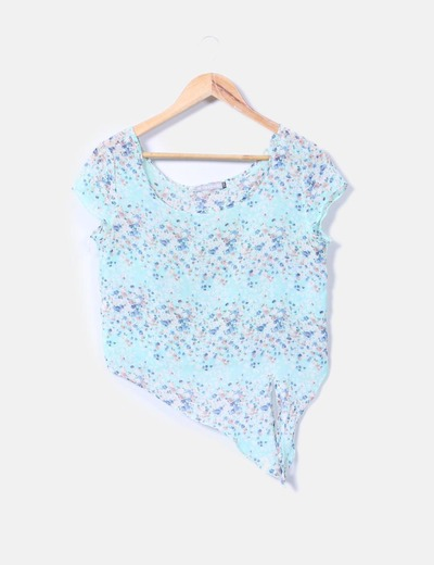 Camiseta floral asimétrica Thena