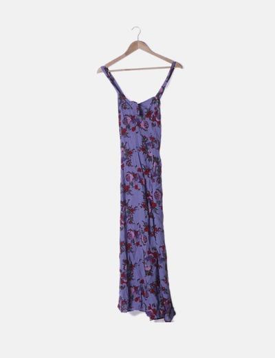 Vestido fluido lila floral