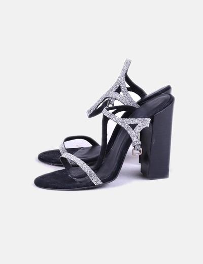 Sandalias glitter plata Zara