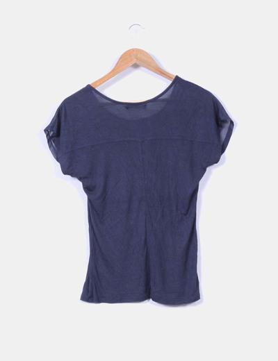 Camiseta navy combinada