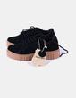 Zapato de plataforma negro de antelina Double Agent