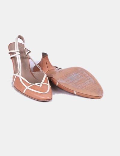 Zapato destalonado marron