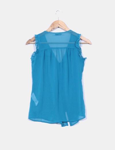 Blusa azul petroleo