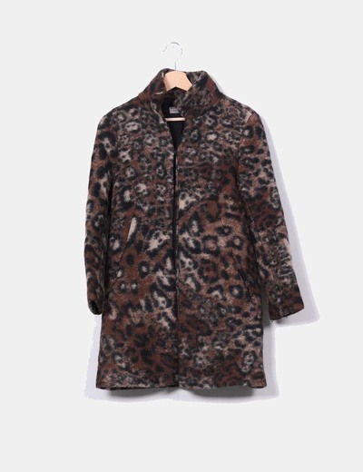 8b5eb9acbbf29 Zara Manteau de laine imprimé animal (réduction 79%) - Micolet