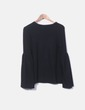 Black jersey with flared sleeve Zara