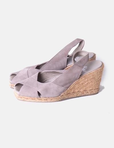 Sandales sparterie compensées Castañer