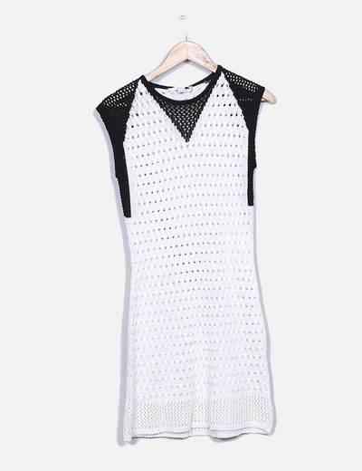 Vestido de punto bicolor Suiteblanco