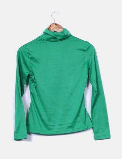 402a64bd505 NoName Camiseta verde manga larga cuello cisne (descuento 93%) - Micolet