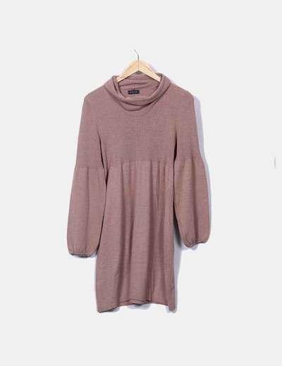 Vestido tricot marrón