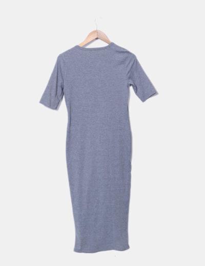 Vestido maxi gris canale