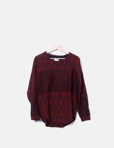 Pull multi-couleurs deux tricot Vero Moda