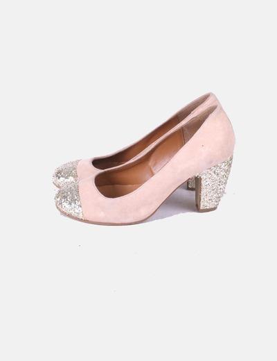 Zapatos heels rosa glitter