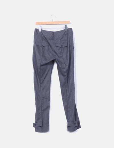 Pantalon gris de raya diplomatica