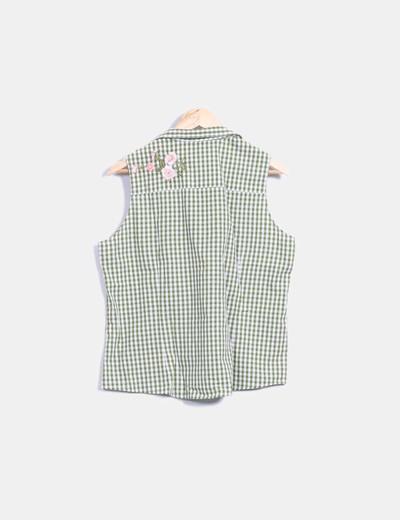 Camisa verde de cuadros vichy sin mangas