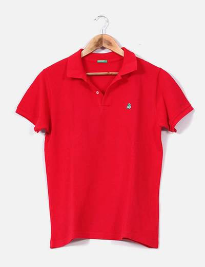 Polo rouge Benetton