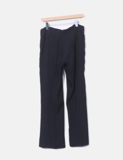 374af56e7d Bohemios Pantalón negro recto (descuento 72%) - Micolet