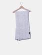 Bufanda maxi gris jaspeada Zara