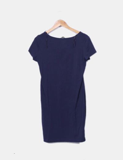 c966be808 H M Vestido azul marino básico (descuento 76%) - Micolet