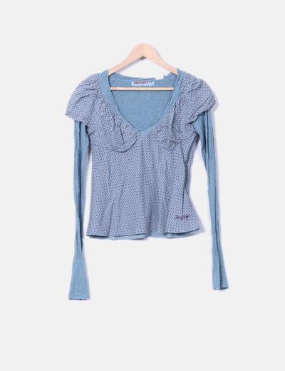 Camiseta doble textura Miss Sixty