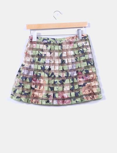 Mini falda estampada