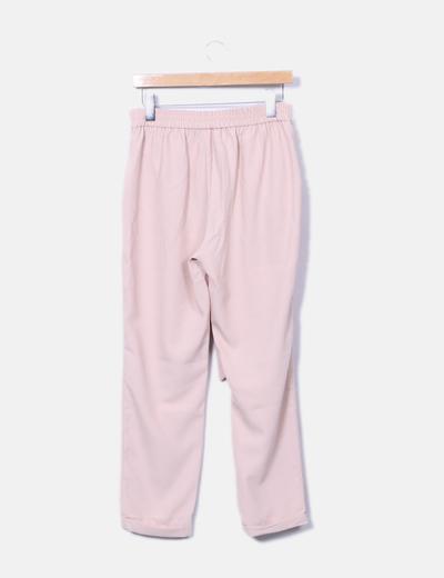 bajo precio 7e5f1 b411b Pantalón recto rosa pastel