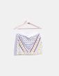 Falda midi blanca combinada con pedrería Zara