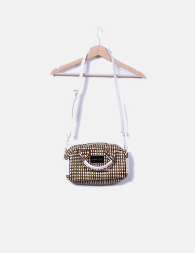 Bolso texturizado trenzado tricolor Bimba&Lola