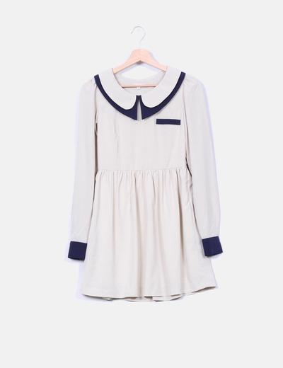 Vestido babydoll bicolor  Kling