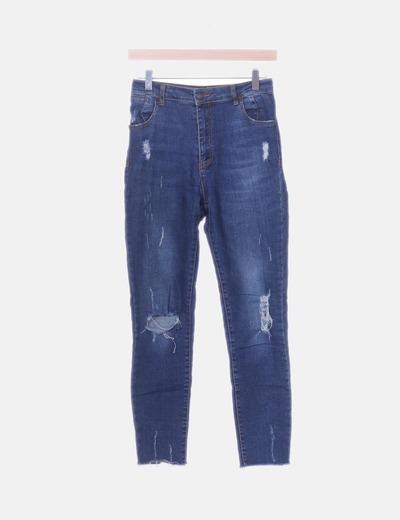 Jeans denim super high waist