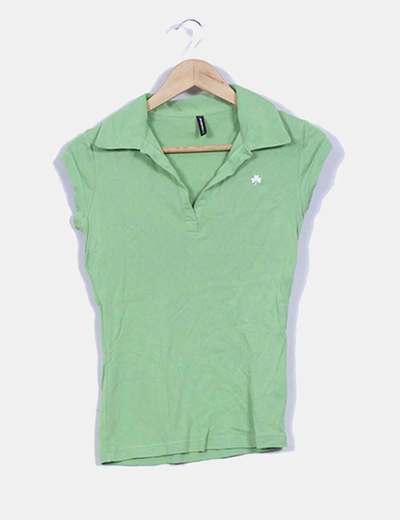 Polo verde manga corta Fishbone