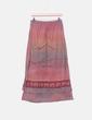 Falda maxi de rayas con bordado floral Virender exports