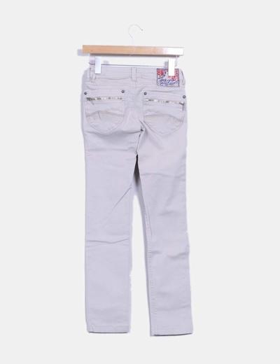 Jeans gris pitillo